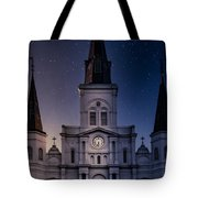 St. Louis Cathedral At Night Tote Bag