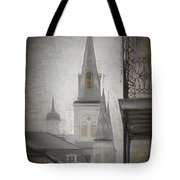 St. Louis Cathedral From Chartres St. - Nola Tote Bag