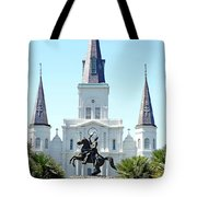 St. Louis Cathedral From Jackson Square Tote Bag