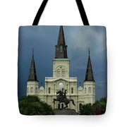 St Louis Cathedral In Jackson Square Tote Bag