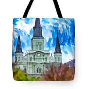 St. Louis Cathedral - Paint Tote Bag