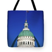 St Louis City Hall With Arch In Background Tote Bag