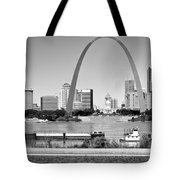 St Louis City Scape In Black And White Tote Bag