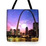 St Louis Skyline As Night Falls Tote Bag