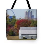 St Louis Skyline From Illinois Tote Bag