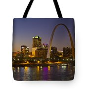 St Louis Skyline From Poplar Street Bridge Tote Bag