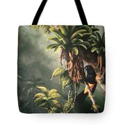 St. Lucia Oriole In Bromeliads Tote Bag