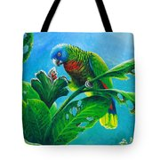 St. Lucia Parrot And Bwa Pain Marron Tote Bag