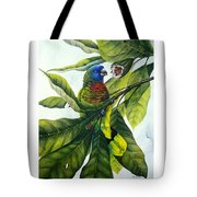 St. Lucia Parrot And Fruit Tote Bag