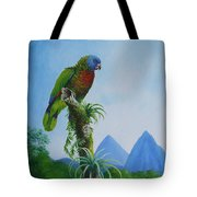St. Lucia Parrot And Pitons Tote Bag