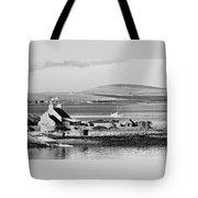 St. Margarets Hope, Orkney.    Black And White Tote Bag