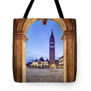 St Mark's Square Arch - Venice Tote Bag by Barry O Carroll