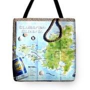 St. Martin St. Maarten Map Tote Bag