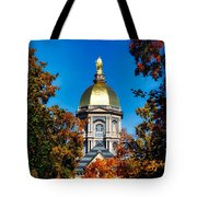 St Mary Atop The Golden Dome Of Notre Dame Tote Bag