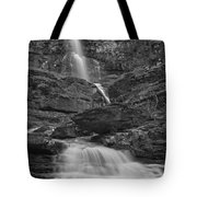 St Mary Triple Cascades - Black And White Tote Bag