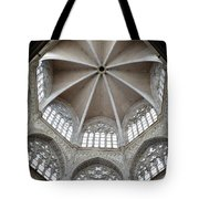 St. Mary's Dome And Windows, Valencia, Spain Tote Bag