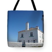 St. Mary's Island And The Lighthouse. Tote Bag