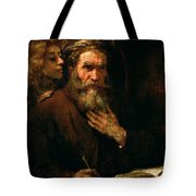 St Matthew And The Angel Tote Bag by Rembrandt Harmensz van Rijn