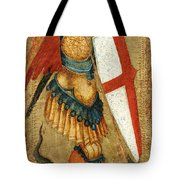 St Michael And The Dragon Tote Bag