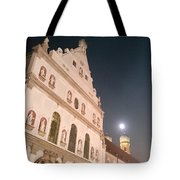 St. Michael, Lady And Moon Tote Bag