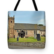 St Michael's Church At Willington Tote Bag