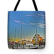 St. Michael's Marina On The Chesapeake Tote Bag