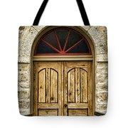 St Olafs Kirke Door Tote Bag