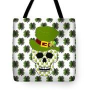 St Paddys Skull  Tote Bag