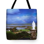 St Patricks Statue, Co Mayo, Ireland Tote Bag