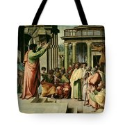 St. Paul Preaching At Athens  Tote Bag