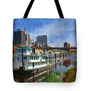 St Paul Tugboat Tote Bag