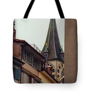 St. Peter Tower Zurich Switzerland Tote Bag by Susanne Van Hulst