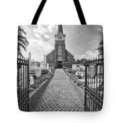 Church And Gravemarkers Tote Bag