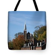 St. Peters Roman Catholic Church At A Distance Tote Bag