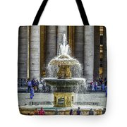 St. Peter's Square Fountain At The Vatican Tote Bag