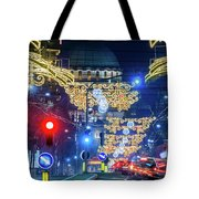 St. Sava Temple In Belgrade Playing Hide And Seek With The Christmas Decorations Tote Bag