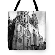 St Stephens Cathedral Vienna In Black And White Tote Bag