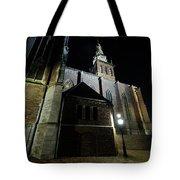 St. Steven's Church In Nijmegen At Night Tote Bag