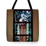St. Theresa Stained Glass Window Tote Bag