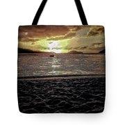 St Thomas - Dusk At Magans Bay Tote Bag