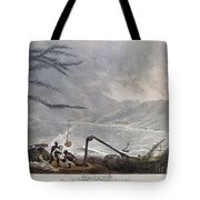St. Thomas: Hurricane, 1819 Tote Bag