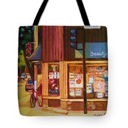 St Urbain And Mount Royal Tote Bag