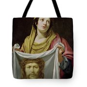 St. Veronica Holding The Holy Shroud Tote Bag by Simon Vouet