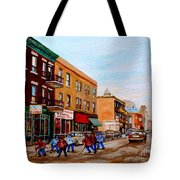 St. Viateur Bagel Hockey Game Tote Bag