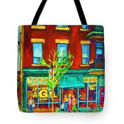 St Viateur Bagel Shop Tote Bag