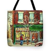 St Viateur Bagel Shop Montreal Tote Bag
