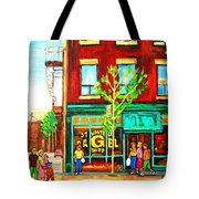 St. Viateur Bagel With Shoppers Tote Bag