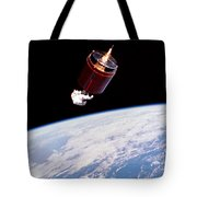 Stabilizing Spacecraft Tote Bag