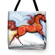 Staceys Arabian Horse Tote Bag