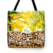 Stack Of Firewood Tote Bag
